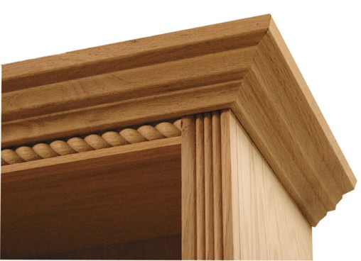 Inwood Bookcase With Traditional Fluted Rope Full Wrap Trim