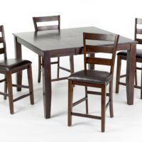Kona Gathering Table with Ladderback Counter Stool
