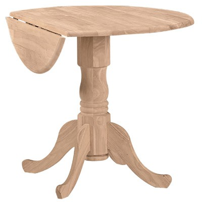 "Whitewood Dropleaf Table 36""."