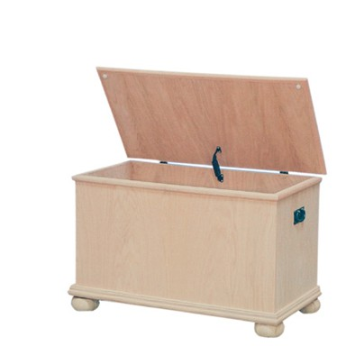 Inwood Toy Chest In Oak With Bun Feet Furniture In The Raw