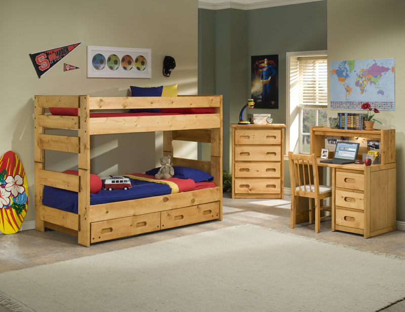 Trendwood Wrangler Twin Over Twin Bunk Bed Collection