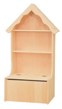 Inwood Toy Chest with House Top Bookcase