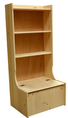 wooden toy box with bookshelf Book Covers