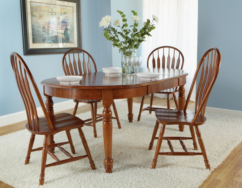 John Thomas Harvest Collection Oval Dining Table With