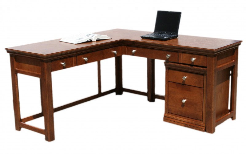 Oak Designs L Shaped Corner Desk In Alder