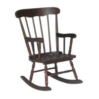 Whitewood Child Rocker with Mocha finish