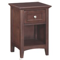 Whittier Wood McKenzie Small 1 Drawer Nightstand in Cafe