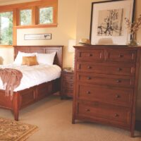Whittier Wood McKenzie Chest – 6 Drawer and Storage Bed in Glazed Antique Cherry