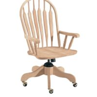 Whitewood Deluxe Steambent Windsor Arm Desk Chair