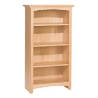 "Whittier Wood McKenzie Bookcase Collection - 24"" Wide, 60"" high, unfinished"