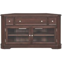 The McKenzie Corner Media Cabinet in Caffe finish