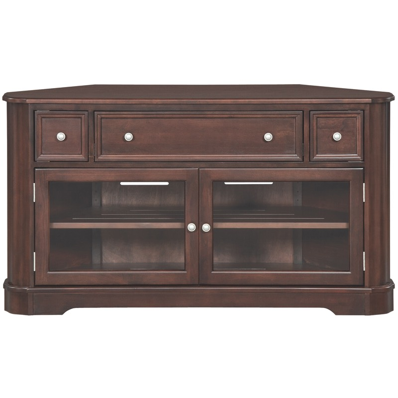 Whittier Wood Mckenzie Corner Media Console Free Shipping