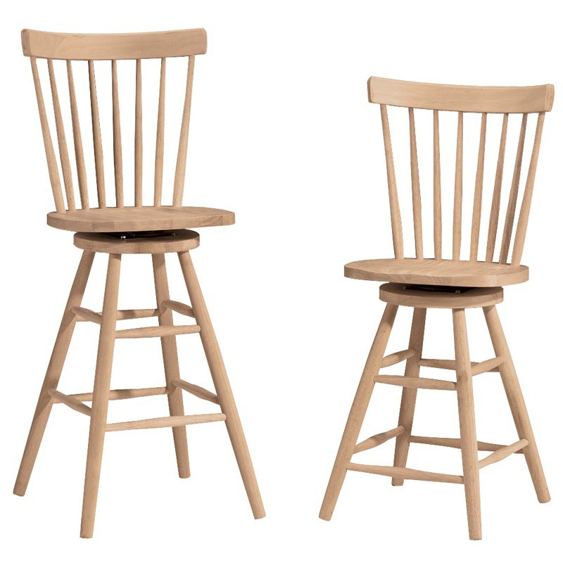 Copenhagen Swivel Bar Stool and Swivel Counter Stool