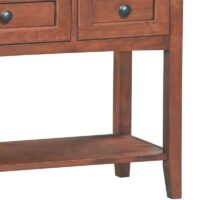 Whittier McKenzie Sofa Entry Table in Antique Glazed Cherry.