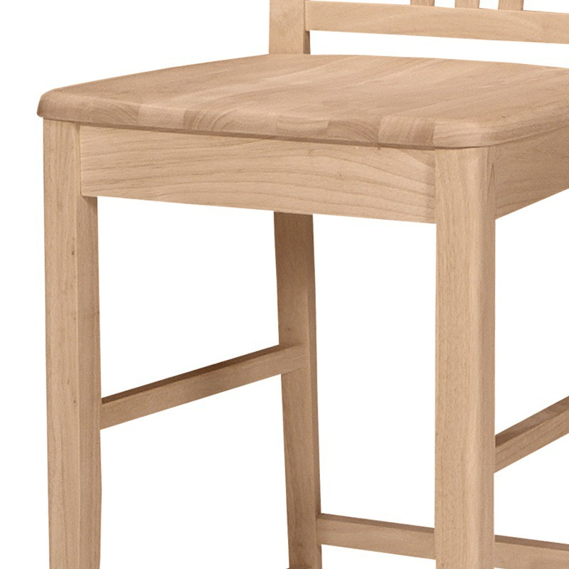 Fan back bar stool and counter stool for Furniture in the raw