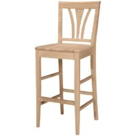 Fan Back Bar 30 inch Bar Stool