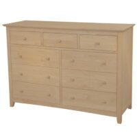 Whitewood Lancaster Dresser - 9 Drawer