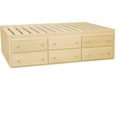 bookcase drawers pecan rustic with summerlin storage full product bed drawer sideways in