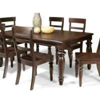 The Intercon Bridgeport Dining Table is made From Solid Birch and finished in Espresso