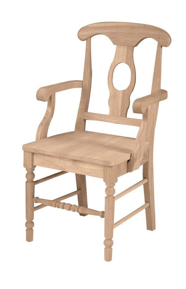 Empire arm dining chair for Furniture in the raw