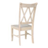 C-20 BACK Double X Whitewood Chair