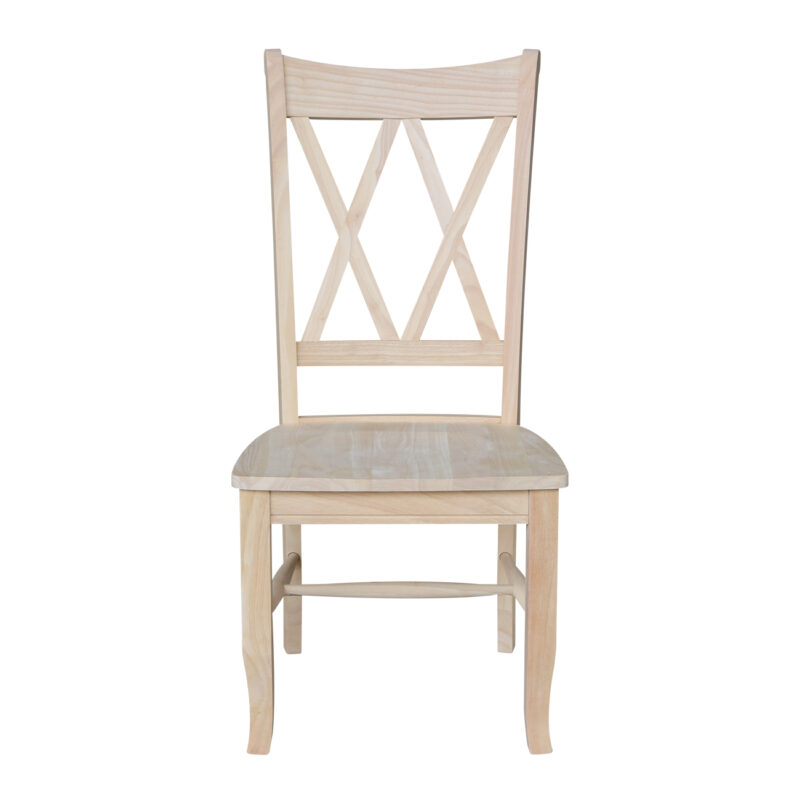 C-20 Double X Whitewood Chair