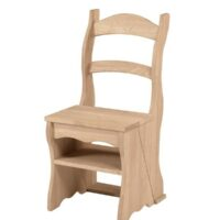 Whitewood Fold Over Ladder Chair