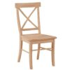 X Back Wood Dining Chair