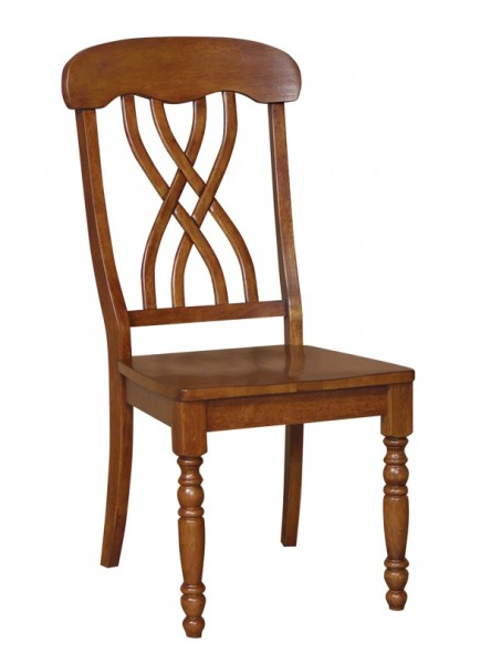 The John Thomas Harvest Collection Lattice Back Chair