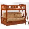 Cinnamon Futon Bunk Bed Cherry finish
