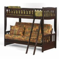 Cinnamon Futon Bunk Bed in Dark Chocolate finish