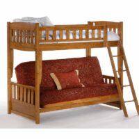 Cinnamon Futon Bunk Bed Medium Oak finish