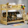 Cinnamon Futon Bunk Bed Natural finish