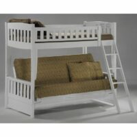 Cinnamon Futon Bunk Bed White finish