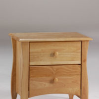Clove Nightstand Natural (Wood Knobs)