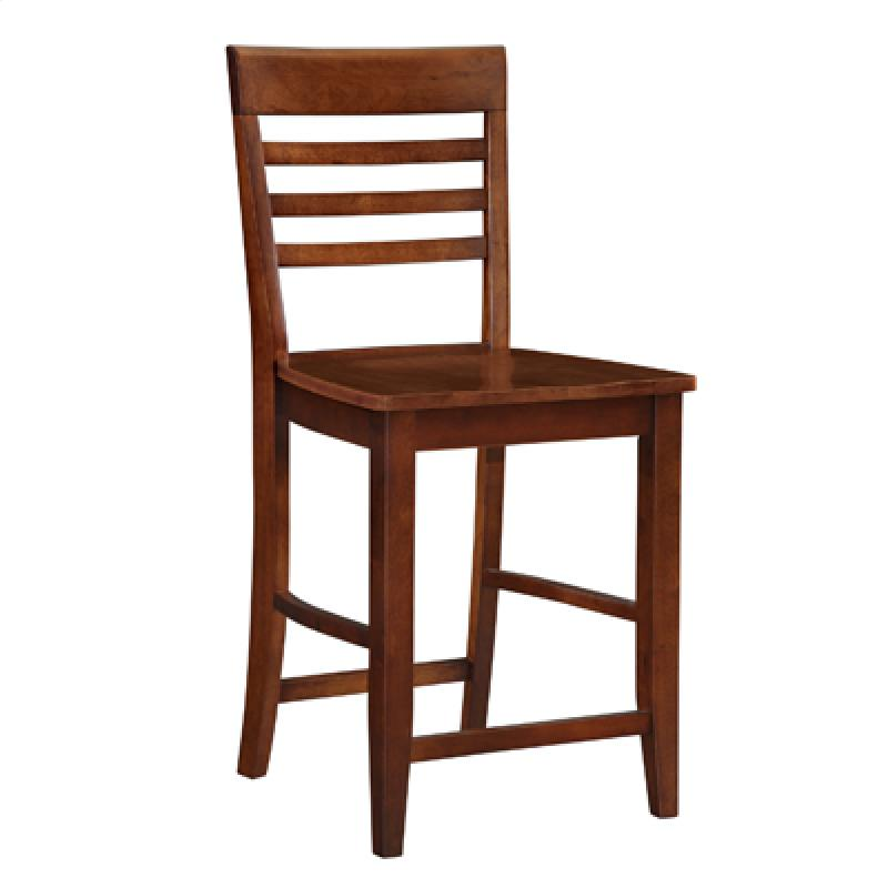 John Thomas Roma Ladderback Stool in Espresso