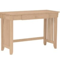 Whitewood Mission Desk with Drawer