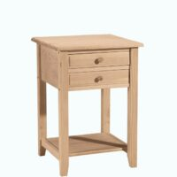 Whitewood Lamp Table