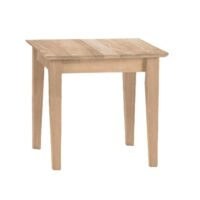 Whitewood Shaker End Table