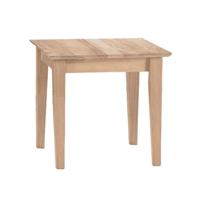 The Shaker End Table Is Solid Wood And