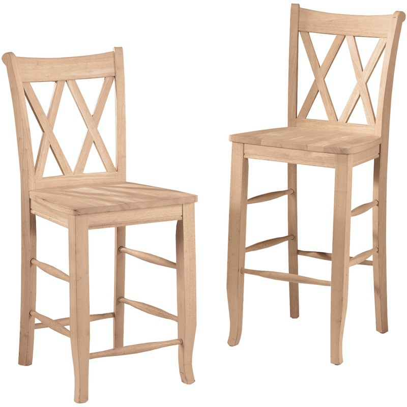 Astounding The Double X Back Bar And Counter Stool Is Comfortable Ibusinesslaw Wood Chair Design Ideas Ibusinesslaworg
