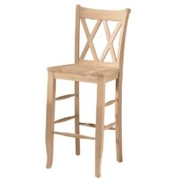 Double X Back Bar Stool 30 inch
