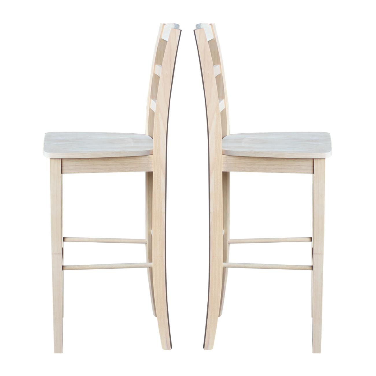 The Whitewood Madrid Counter And Bar Stool Are Classic