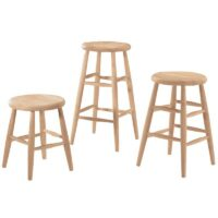 Scoop Seat Wood Stools