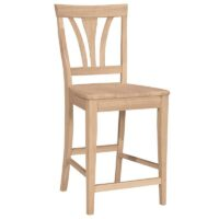 Fan Back Bar 24 inch Counter Stool