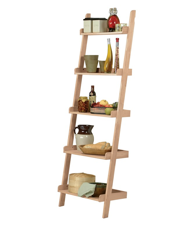 Whitewood Accessory Ladder And Leaning Bookcase