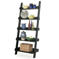 Whitewood Leaning Bookcase in black paint