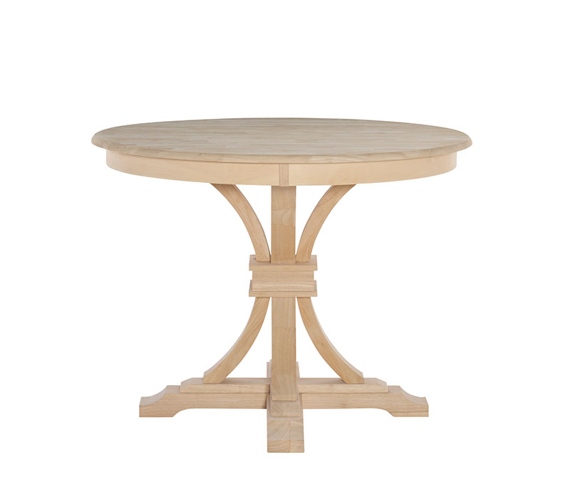Whitewood 42 Quot Round Kitchen Table Free Shipping