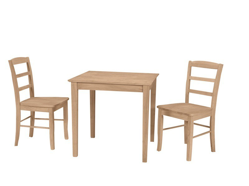 Small square shaker dining table