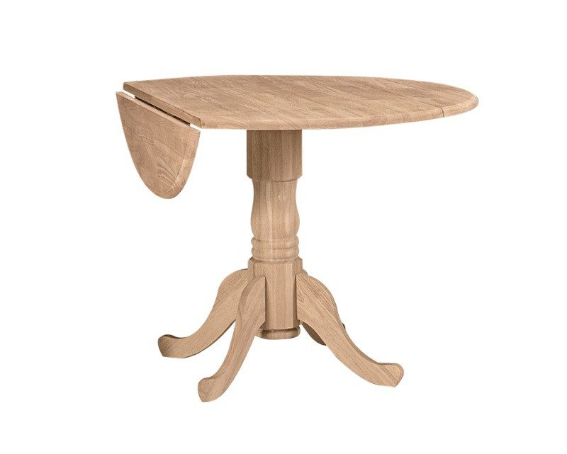 Whitewood DropLeaf Table 42""